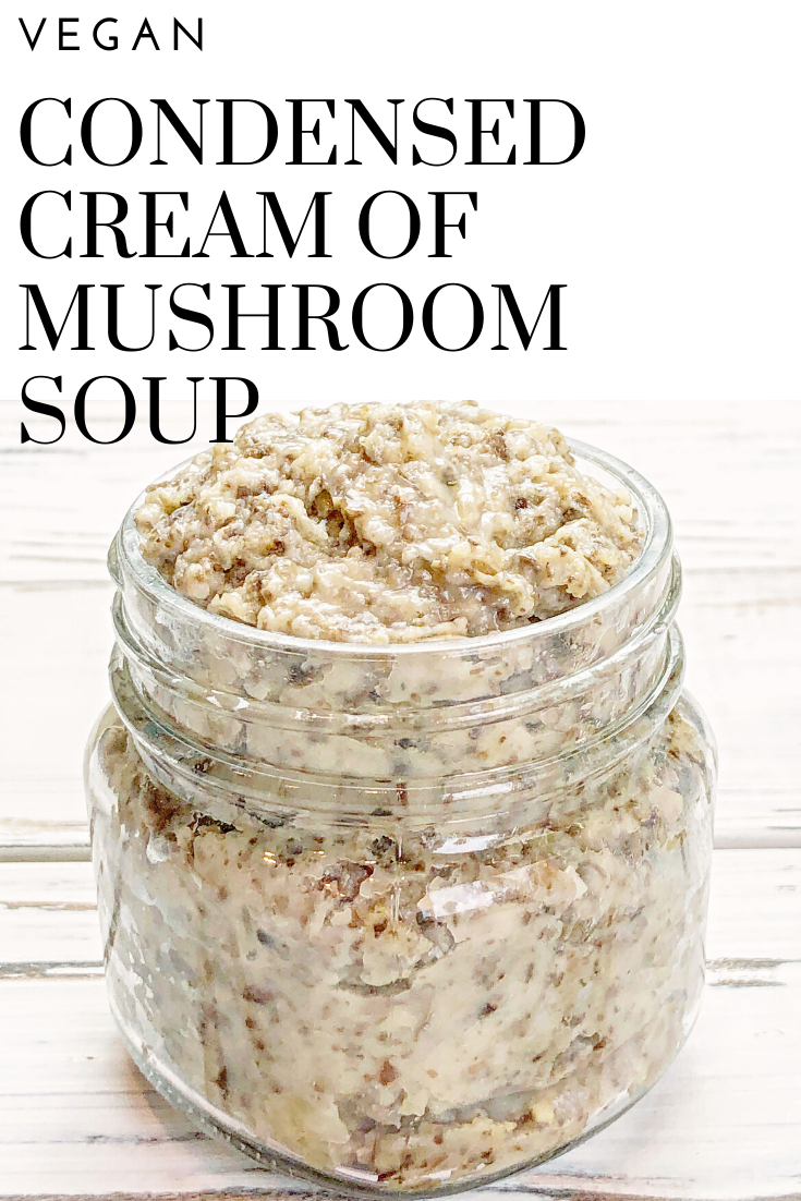 Vegan Condensed Cream of Mushroom Soup - This vegan recipe yields the equivalent of one 10.75-ounce can of condensed cream of mushroom soup and it's ready to go in about 10 minutes! via @thiswifecooks