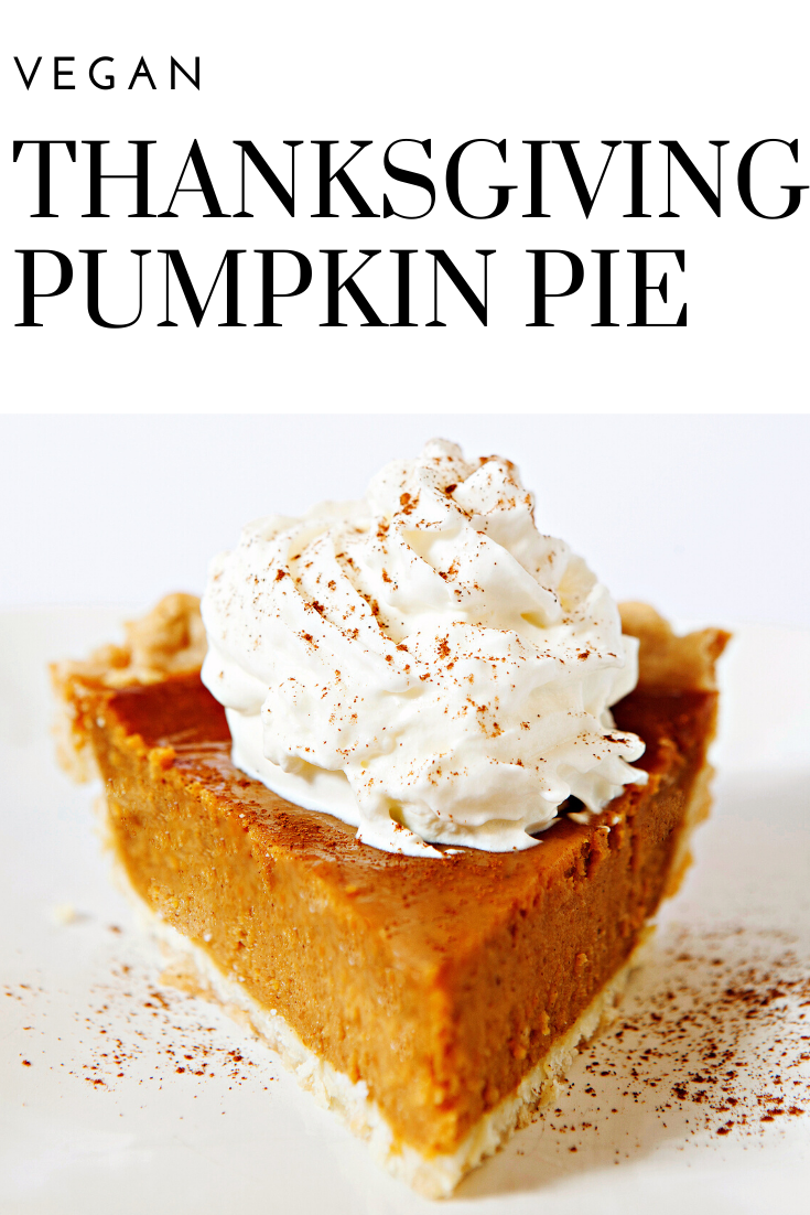 Vegan Thanksgiving Pumpkin Pie - The iconic, quintessential pie of Thanksgiving! Rich, creamy, and loaded with spices of the season. Easy & comforting - a family favorite year after year! via @thiswifecooks