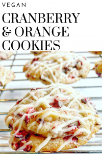 Vegan Cranberry & Orange Cookies
