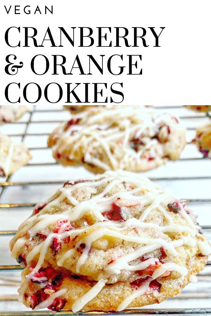 Perfectly soft with a blend of citrus, sweet, and tart. These easyvegan cranberry orange cookies are a festive addition your holiday dessert table! via @thiswifecooks