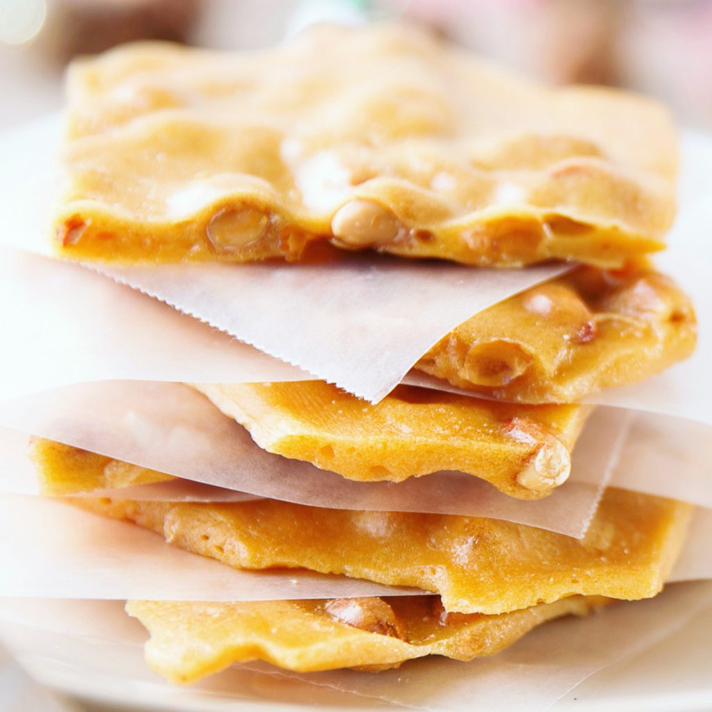 Traditional Vegan Peanut Brittle - This classic holiday candy is easy to make and does not require refrigeration making it perfect for gifting!