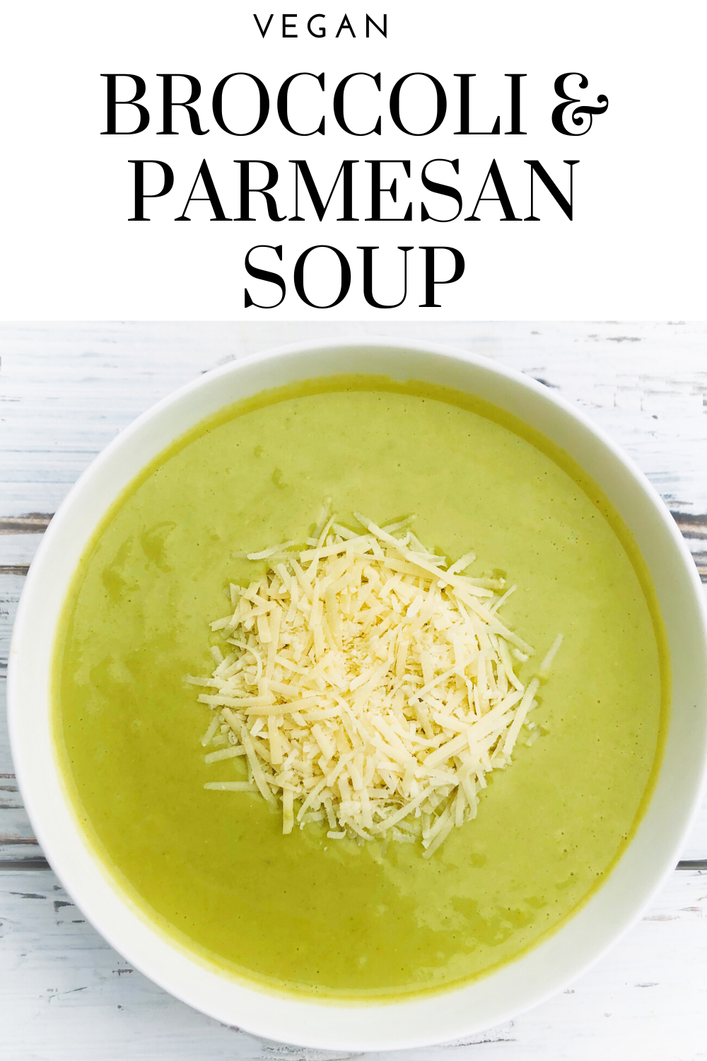 Vegan Broccoli and Parmesan Soup - Quick and easy - Creamy without feeling heavy - Packed with good-for-you ingredients - Ready to serve in 30 minutes or less! via @thiswifecooks