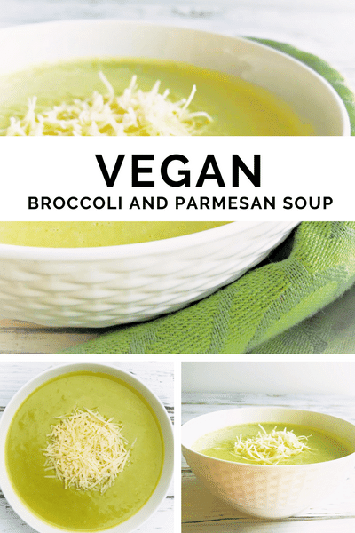 Vegan Broccoli & Parmesan Soup  via @thiswifecooks