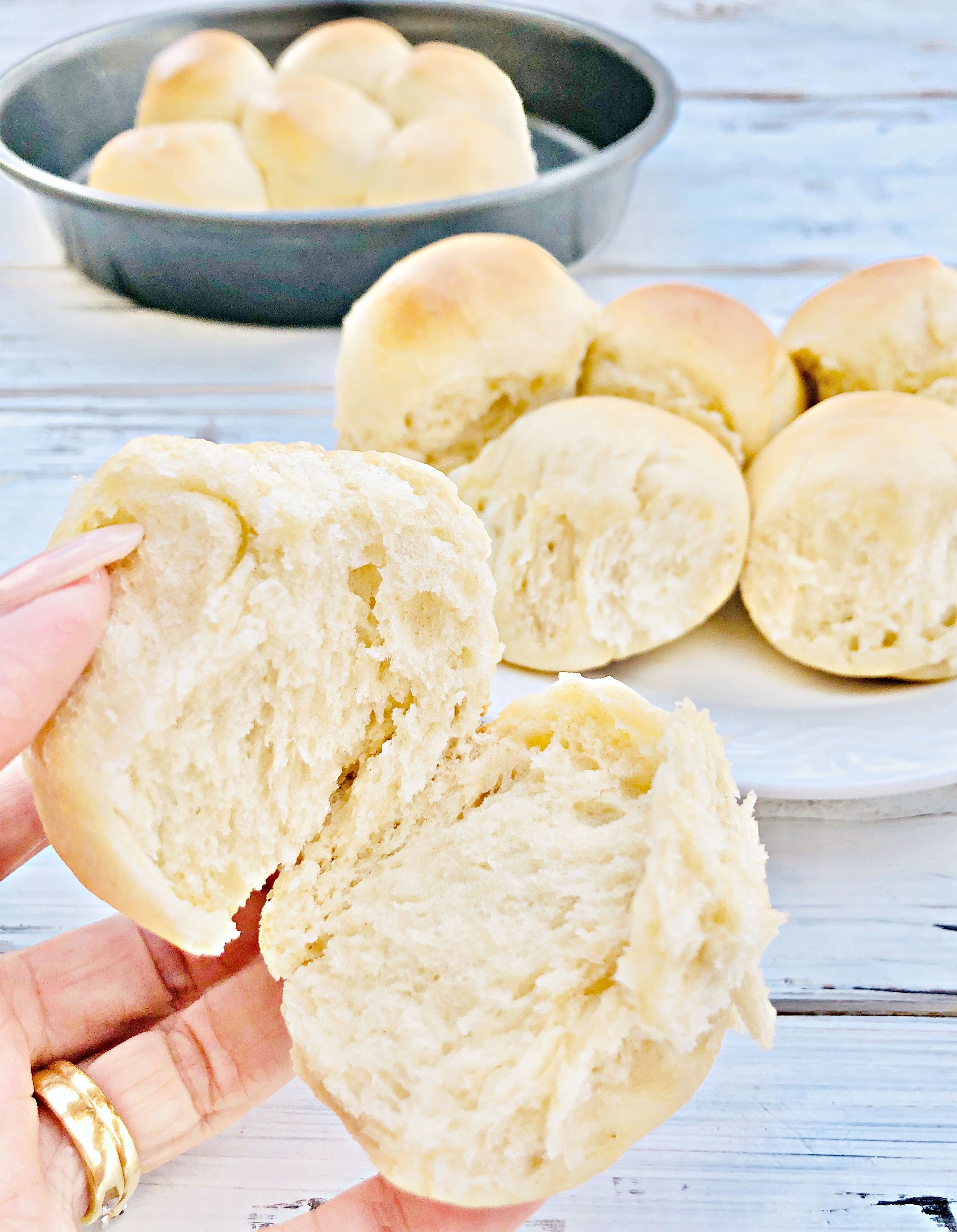 Easy Vegan Pull-Apart Dinner Rolls - Impress your guests with soft and fluffy homemade dinner rolls! Perfect for the holiday dinner table! | thiswifecooks.com #thanksgivingbreadrollrecipe #yeastrolls #dairyfreedinnerrolls #veganthanksgivingrecipes #thiswifecooksrecipes via @thiswifecooks
