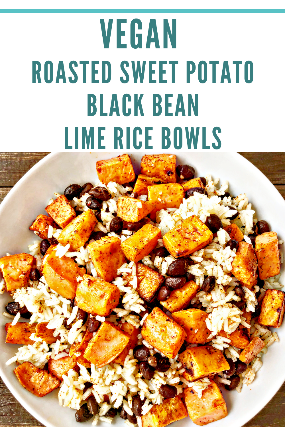 Roasted Sweet Potato, Black Bean and Lime Rice Bowls | A colorful, tasty, satisfying, protein-packed, budget-friendly meal, you can have on the table in about 30-40 minutes! | thiswifecooks.com | #healthyveganrecipes #ricebowlrecipes #roastedsweetpotato via @thiswifecooks