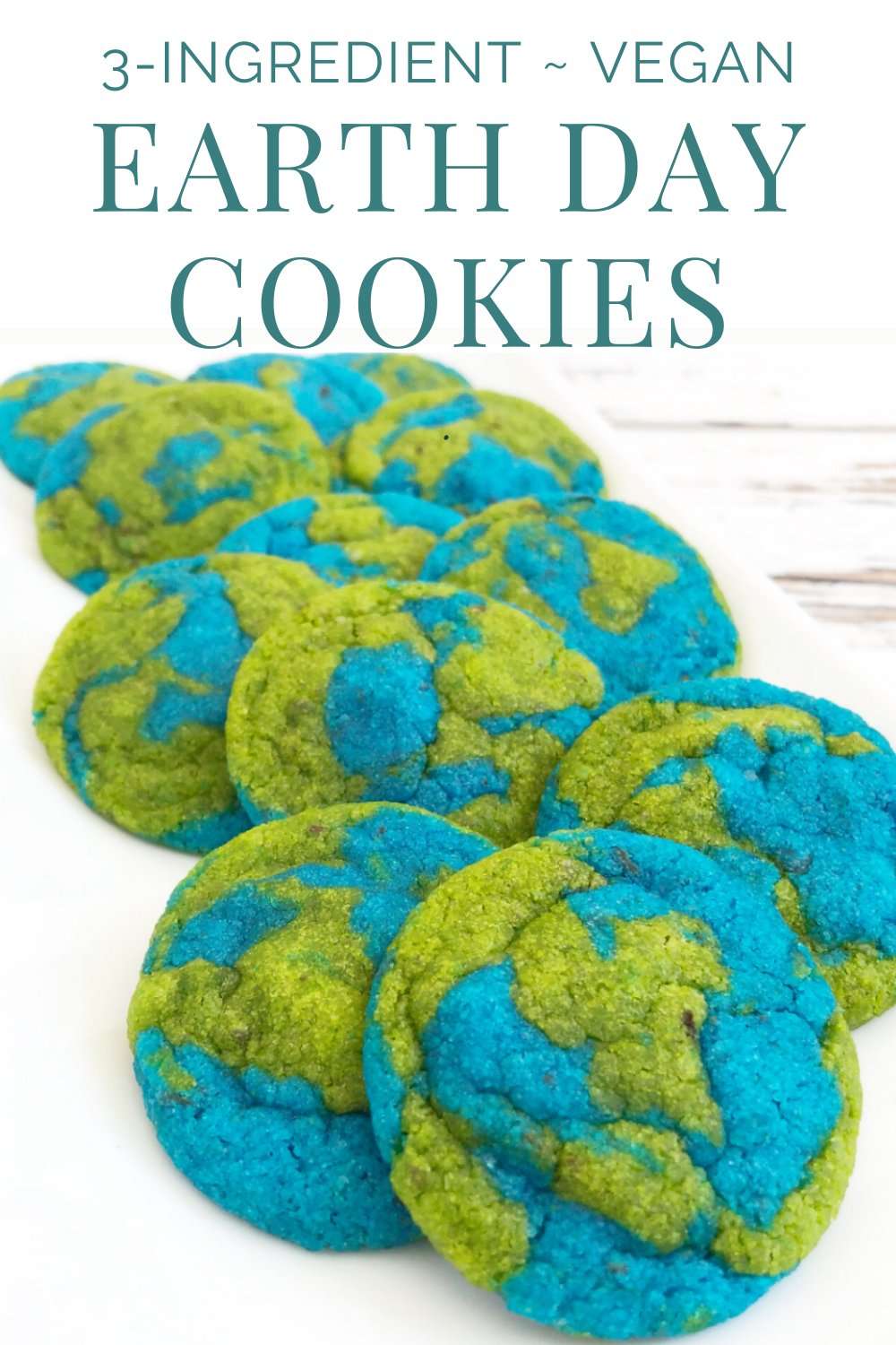 Vegan Earth Day Cookies! These semi-homemade and dairy-free cookies are super easy to make and are absolutely perfect for Earth Day! #earthdaycookies #earthday #easyearthdayprojects #veganearthday #earthdayrecipes #earthdayrecipesforkids #thiswifecooksrecipes #earthdaycookiesrecipes #veganearthdayrecipes via @thiswifecooks