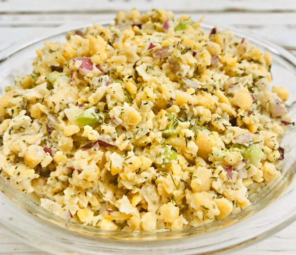 Simple and Savory Chickpea Salad - An easy and delicious make-ahead salad and sandwich filling, perfect for lunch or a light dinner. Made with chickpeas, celery, onion, lemon juice, and simple spices, this quick, no-fuss salad is ready to serve in minutes!