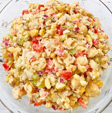 Smashed Chickpea Salad and Sandwich Filling - A quick and easy lunch made with simple and savory ingredients! thiswifecooks.com #vegansandwich #plantbasedsandwich #easychickpeasalad #thiswifecooksrecipes