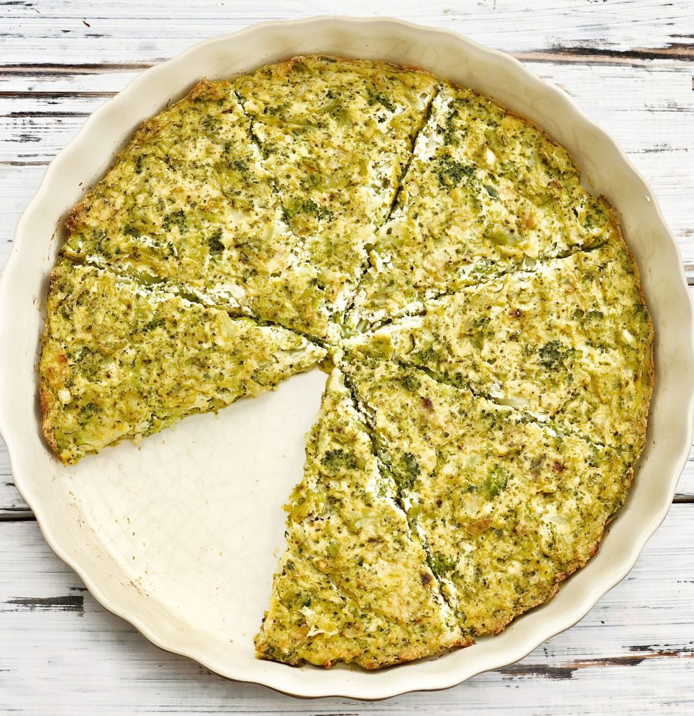 Tofu and Broccoli Frittata - A plant-based broccoli frittata recipe that is easy to make ahead and perfect for breakfast, brunch, lunch, or dinner. #veganfrittata #crustlessquiche #thiswifecooksrecipes #veganbreakfast