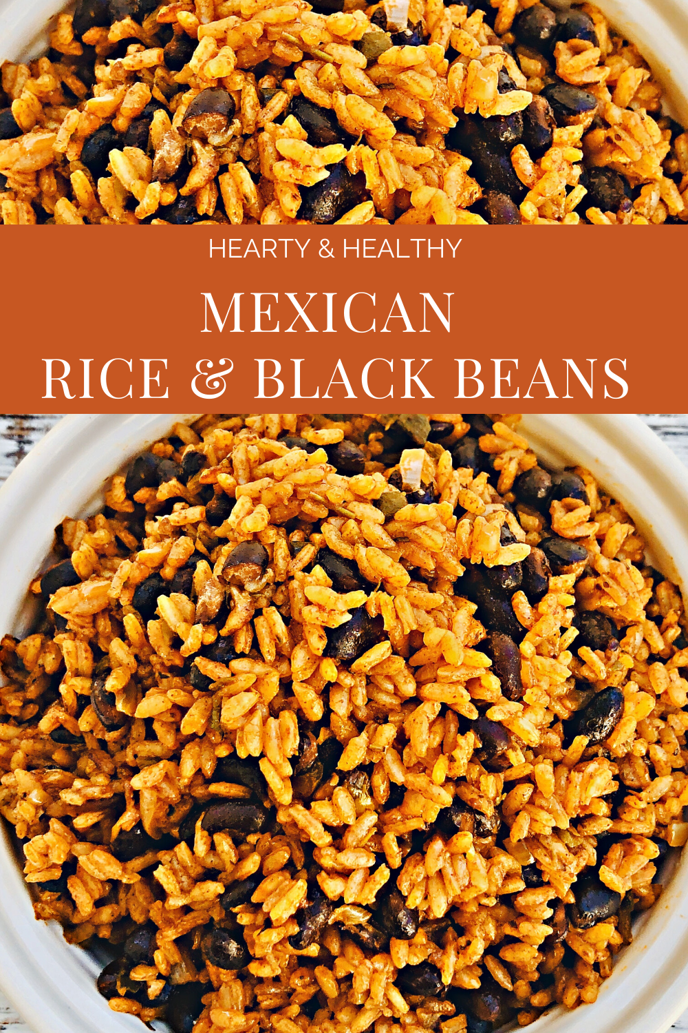 Mexican Rice and Black Beans - A hearty and healthy rice and bean dish that is easy to make and ready to serve in less than 30 minutes! via @thiswifecooks