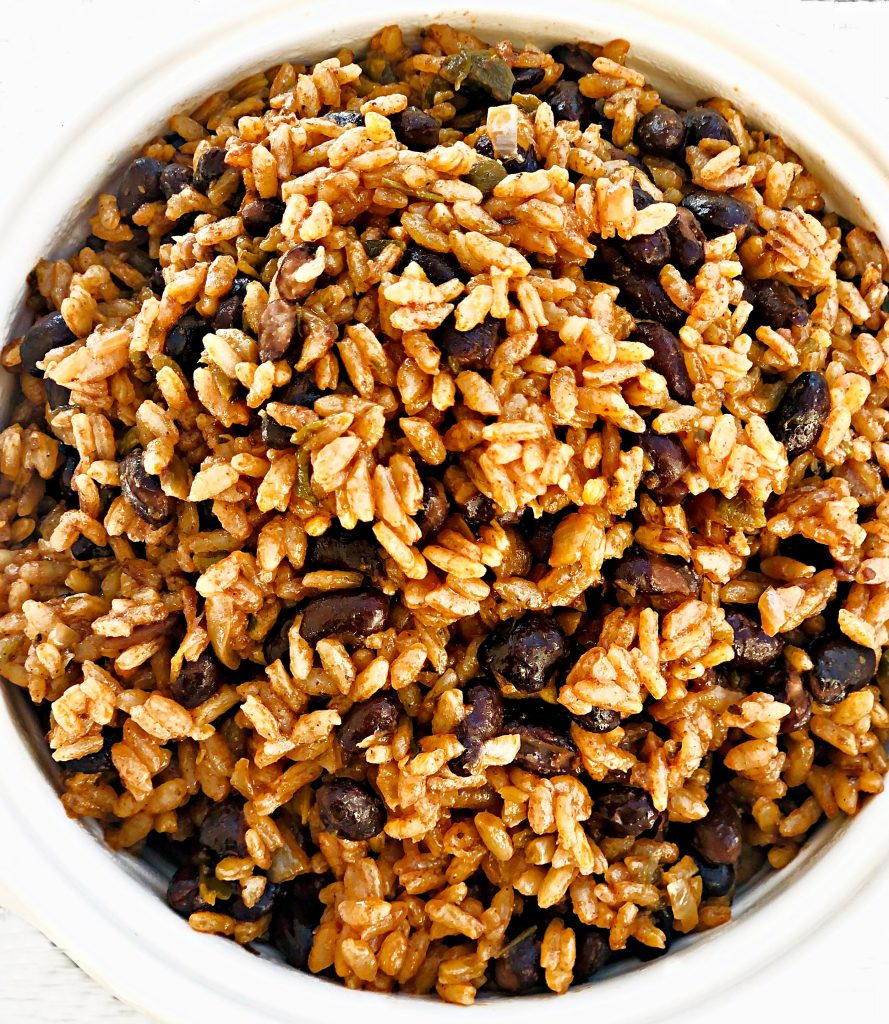 Mexican Rice and Black Beans - A hearty and healthy rice and bean dish that is easy to make and ready to serve in less than 30 minutes!