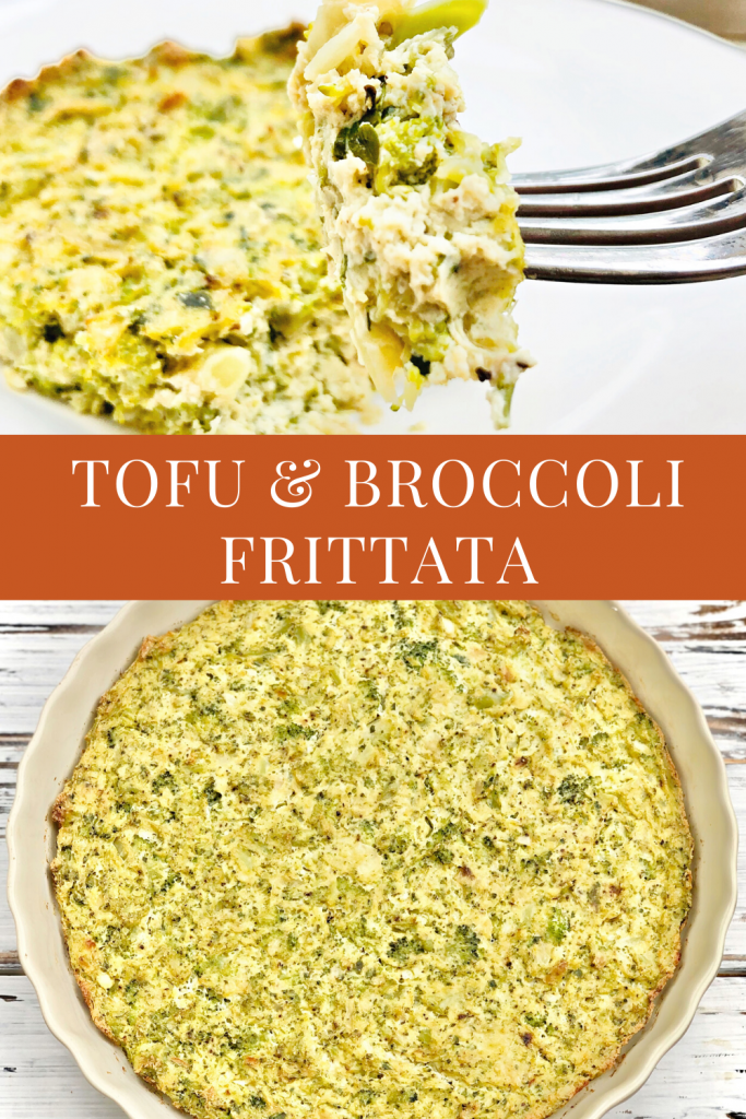 Tofu and Broccoli Frittata - A broccoli frittata recipe is easy to make ahead and perfect for breakfast, brunch, lunch, or dinner.
