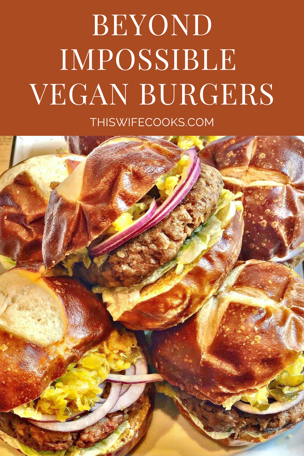 Beyond Impossible Vegan Burgers and Sliders - This recipe yields 6 thick pub-style burgers or 12 hearty sliders. Perfect for cookouts or tailgating, these 100% plant-based burgers will satisfy even the most hardcore carnivores in the crowd. via @thiswifecooks