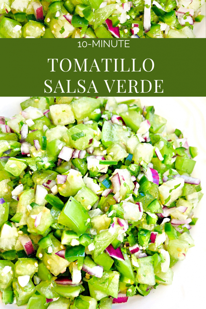 Tomatillo Salsa Verde - A light, bright, and zesty salsa verde made with fresh tomatillos. So easy and flavorful!