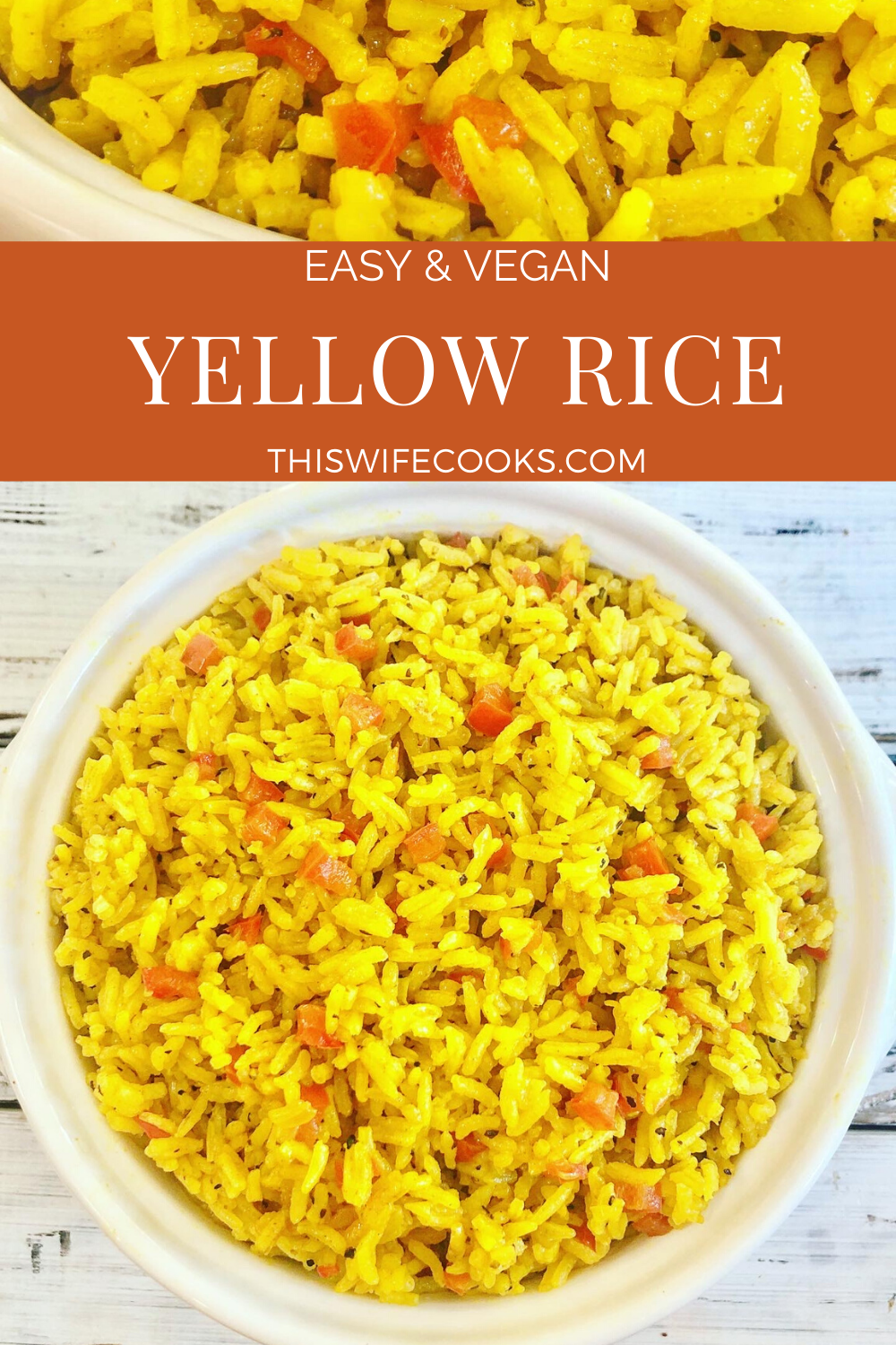 Arroz Amarillo - Spanish for Yellow Rice - is savory turmeric spiced rice that is easy to make with simple ingredients. Ready to serve in under 30 minutes. via @thiswifecooks