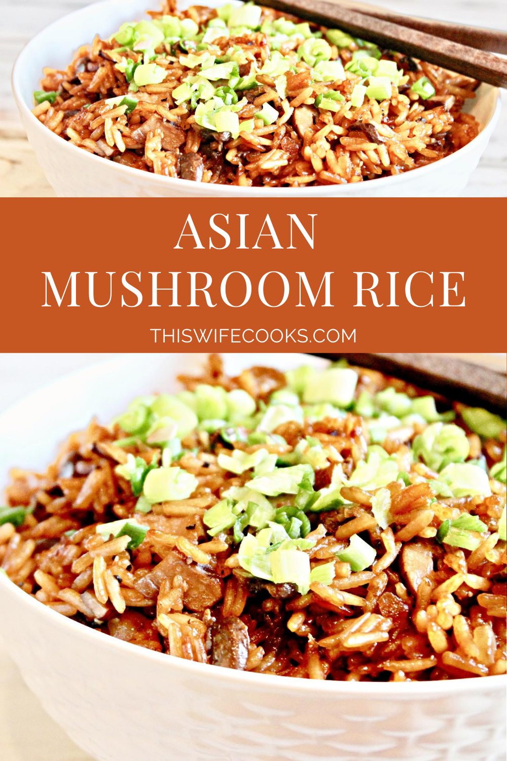 Asian Mushroom Rice ~ Earthy and aromatic, this one-pot rice side dish ready to serve in about 30 minutes. Toss in extra mushrooms, grilled tofu, or roasted veggies for a quick and easy main meal. via @thiswifecooks