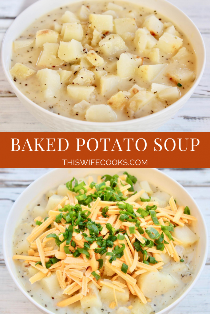 Baked Potato Soup ~ This dairy-free spin on the classic comfort food soup is easy to make and loaded with flavor!
