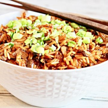 Asian Mushroom Rice ~ Earthy and aromatic, this one-pot rice side dish ready to serve in about 30 minutes. Toss in extra mushrooms, grilled tofu, or roasted veggies for a quick and easy main meal.