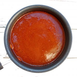Red Enchilada Sauce ~ A few simple ingredients and about 15 minutes are all you need to whip up a batch of bold-flavored enchilada sauce that will have you ditching the canned stuff for good!