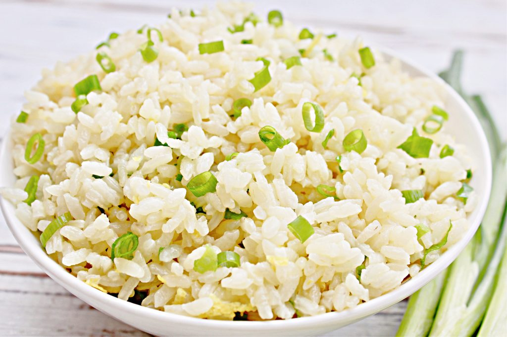 Green Onion Rice ~ A light and mild-flavored white rice dish made with fresh green onions and lemon zest. Ready to serve in about 20 minutes.
