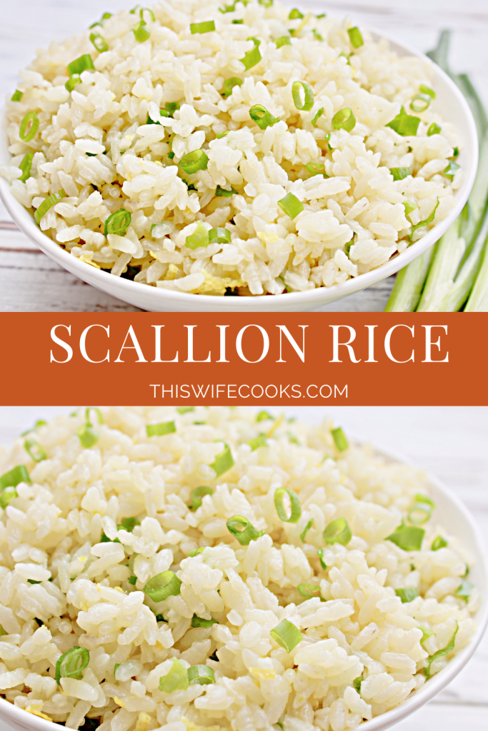 Scallion Rice ~ A light and mild-flavored white rice dish made with fresh green onions and lemon zest. Ready to serve in about 20 minutes.