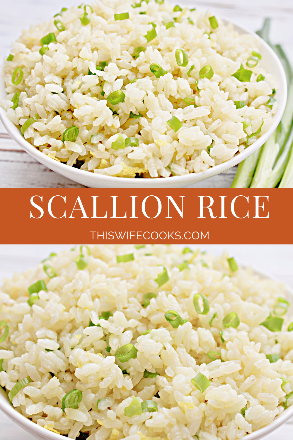 Scallion Rice ~ A light and mild-flavored white rice dish made with fresh green onions and lemon zest. Ready to serve in about 20 minutes. via @thiswifecooks