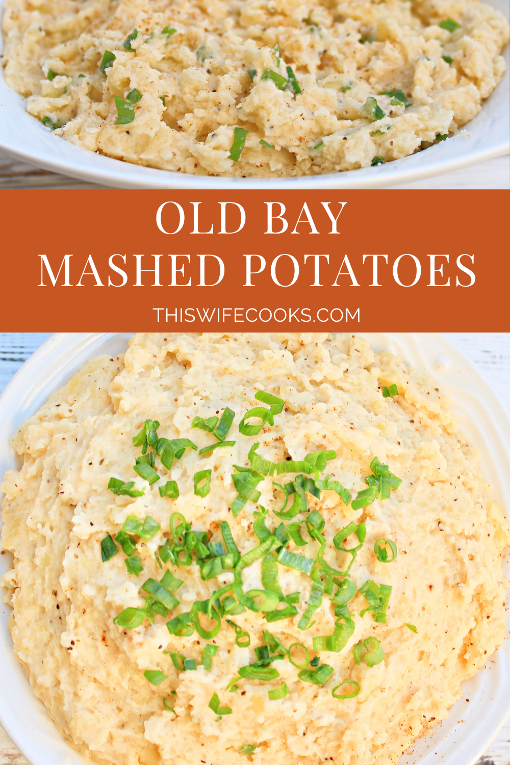 Old Bay Mashed Potatoes ~The distinctive seasoning blend of Old Bay gives traditional mashed potatoes a tasty New England twist.  via @thiswifecooks