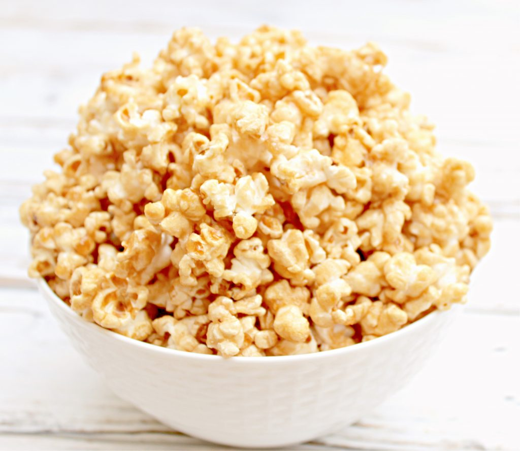 Homemade caramel popcorn is a deliciously addictive snack, easy to make with 7 simple ingredients, and great for gifting!