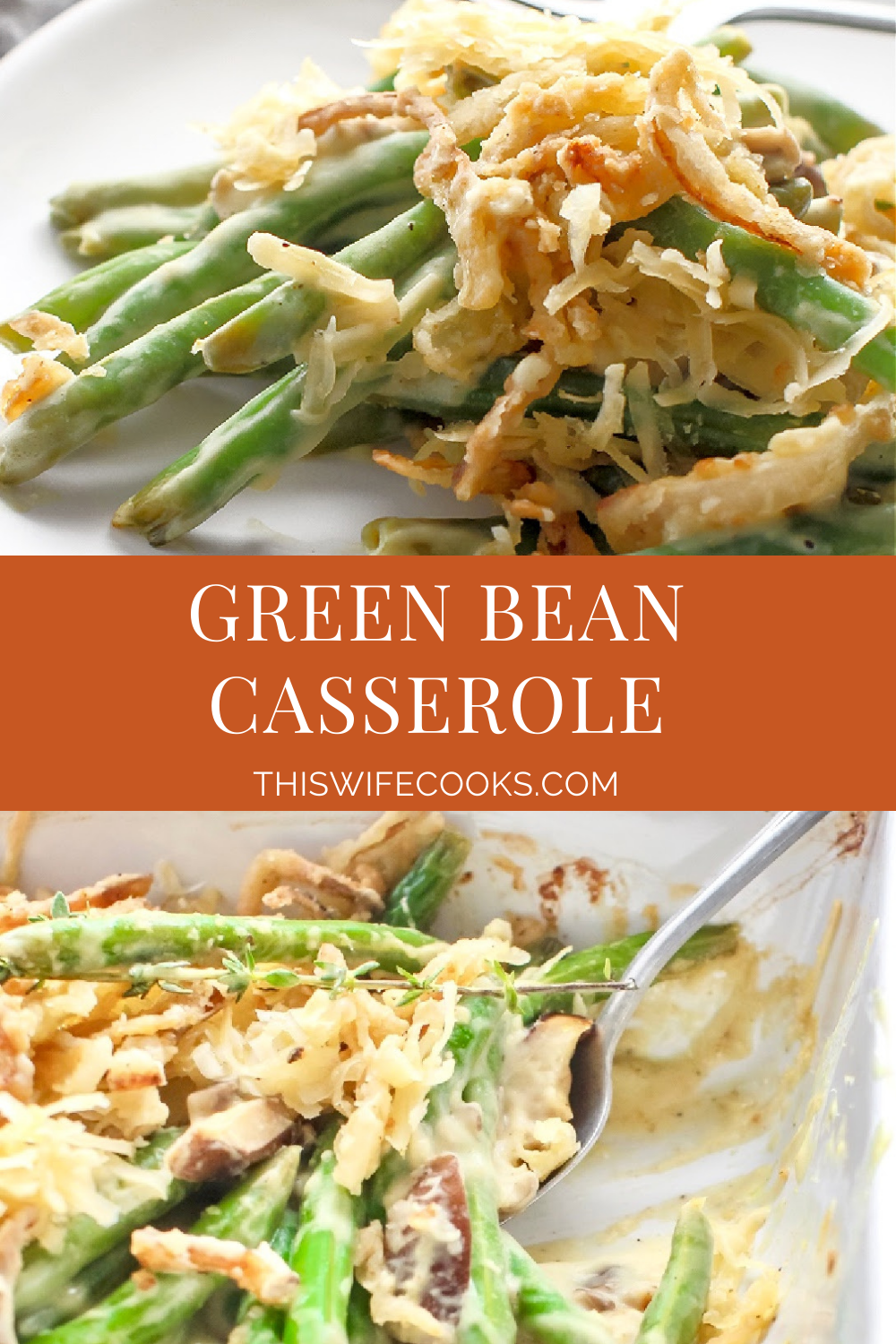 Vegan Green Bean Casserole ~ The traditional Thanksgiving casserole made with all plant-based ingredients!  And it's everything you love about the classic! via @thiswifecooks