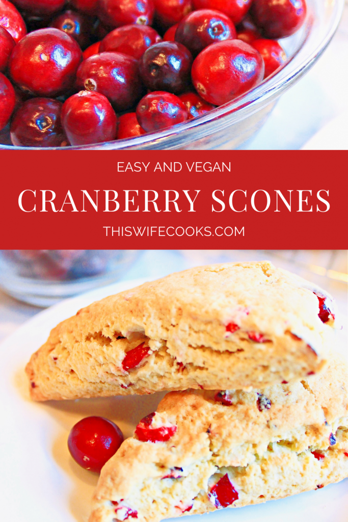 Classic scones infused with the festive flavor of cranberries are easy to make and add a pretty pop of color to any holiday breakfast or brunch!
