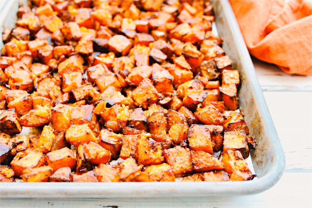Roasted Sweet Potato Hash Sheet Pan Recipe This Wife Cooks