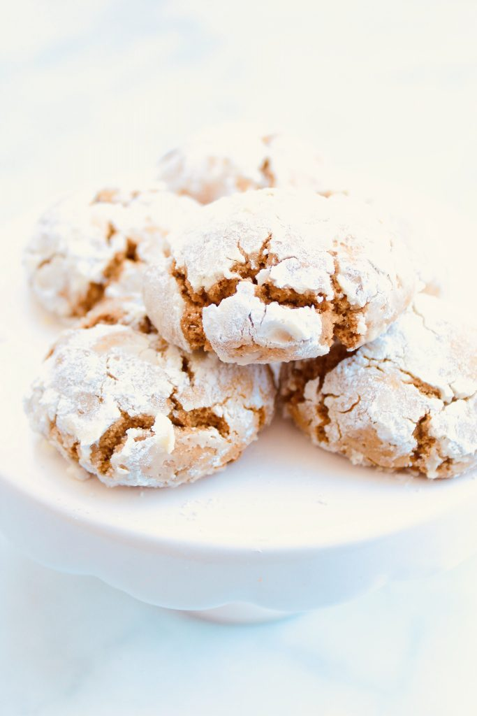 Gingerbread Crinkle Cookies ~ Santa is going to love these gingerbread cookies! They're rich with classic gingerbread flavor, pillowy soft, perfectly spiced, and taste like Christmas!