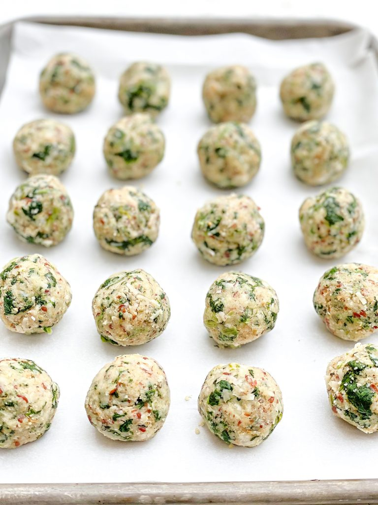 Spinach Parmesan Balls ~ An easy, crowd-pleasing appetizer made with all plant-based ingredients!