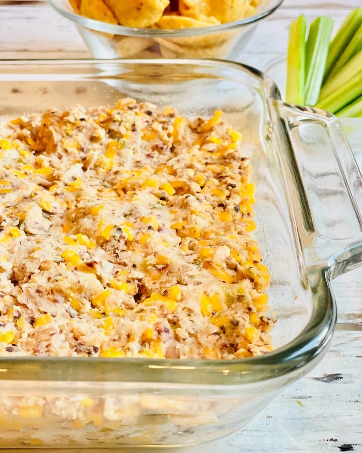 Baked Black-Eyed Pea Dip ~ A quick and easy Southern-style dip! Six simple ingredients and about 30 minutes is all you need!