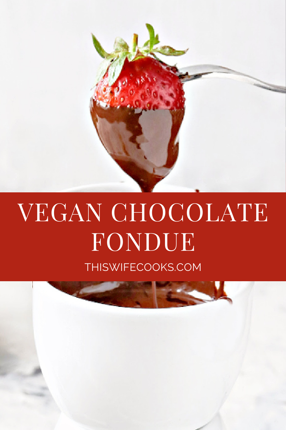 Vegan Chocolate Fondue - Decadent and dairy-free! Simple to make for a fun interactive family dessert or date night experience at home. via @thiswifecooks
