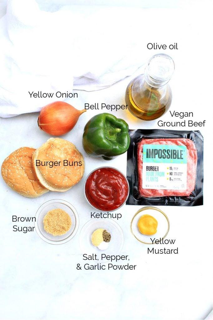 Vegan Sloppy Joe ingredients