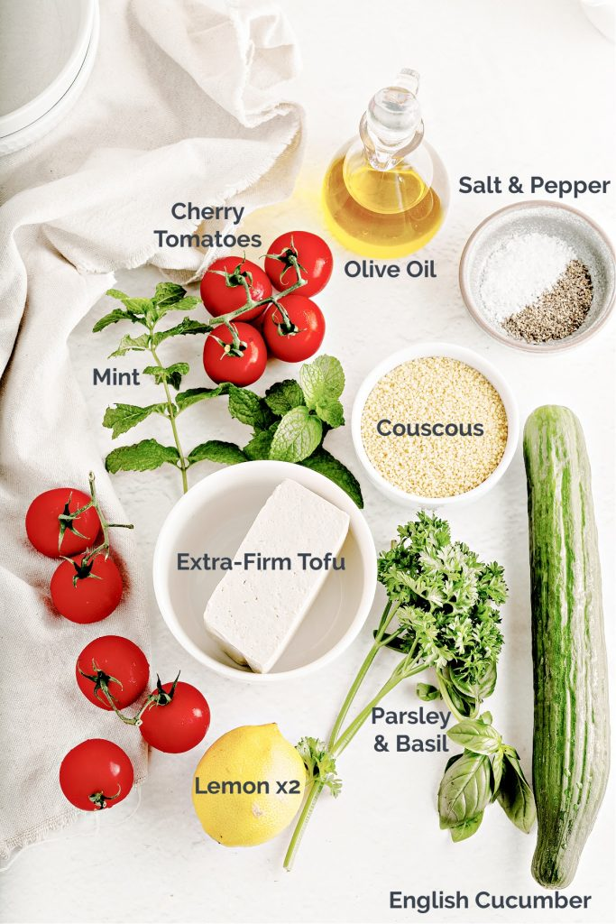 layout of all ingredients needed for recipe