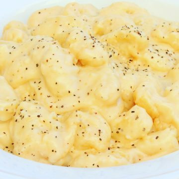gnocchi in dairy-free cheese sauce