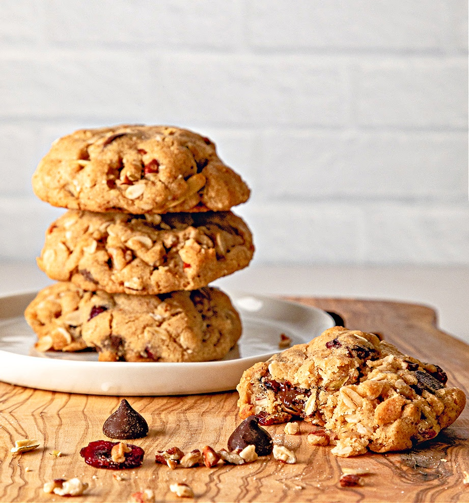 Baked Trail Mix Cookies