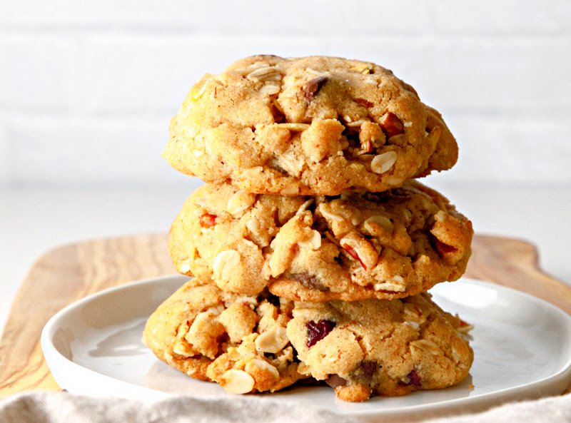 Stack of Trail Mix Cookies
