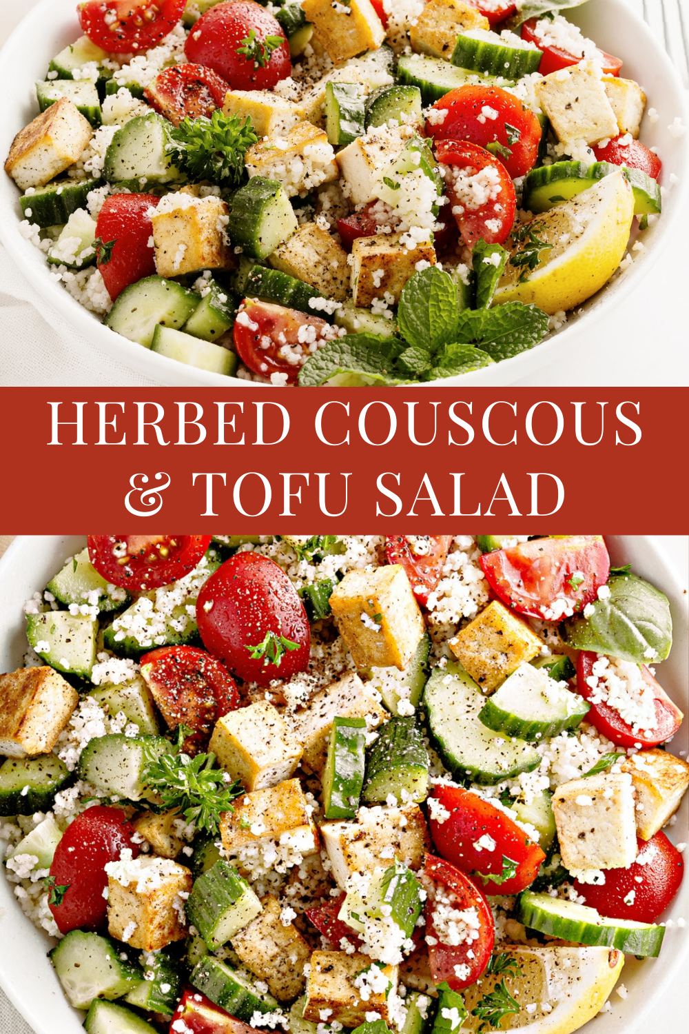 Light, bright, & flavorful! Serve this Mediterranean-style fare as a quick and easy entree salad or side dish! via @thiswifecooks