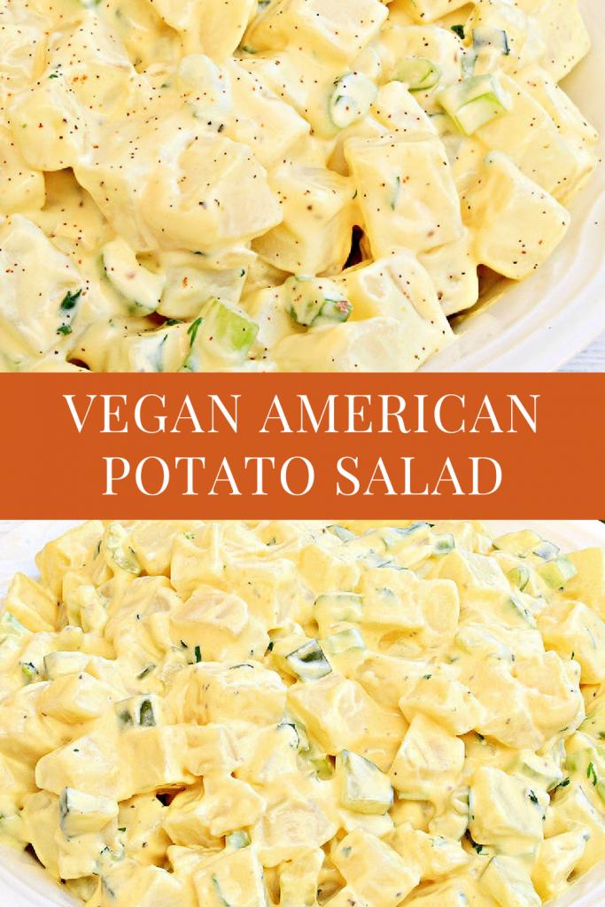 vegan American potato salad pin