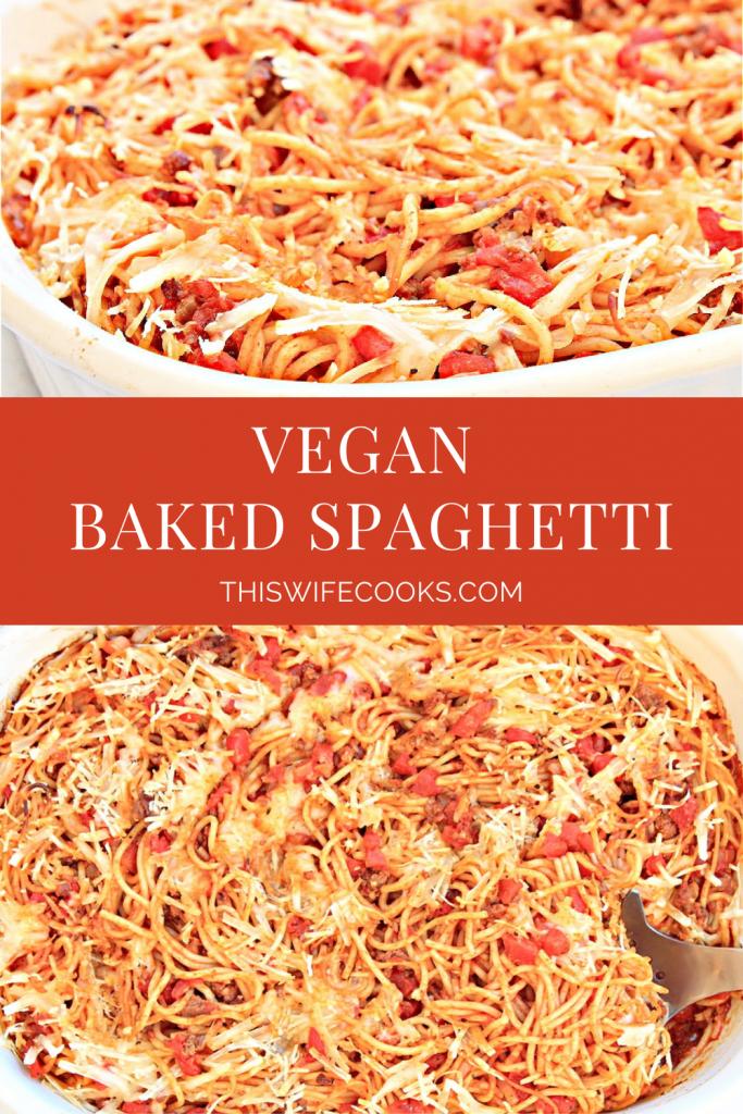 vegan baked spaghetti
