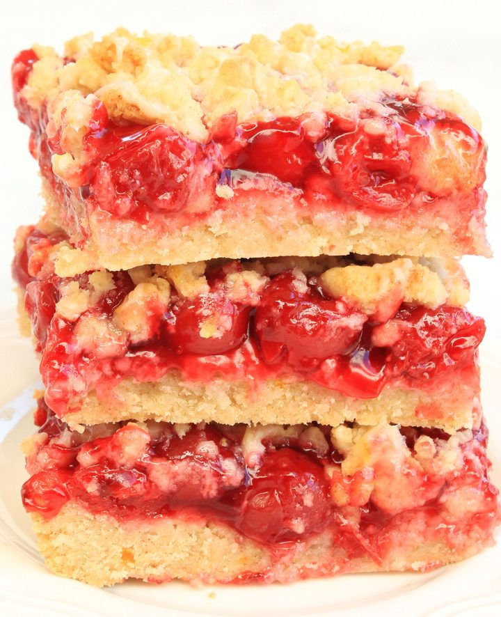 Cherry Pie Cookie Bars -If you love cherry pie and you love sugar cookies, you're going to love these easy and delicious dessert bars!