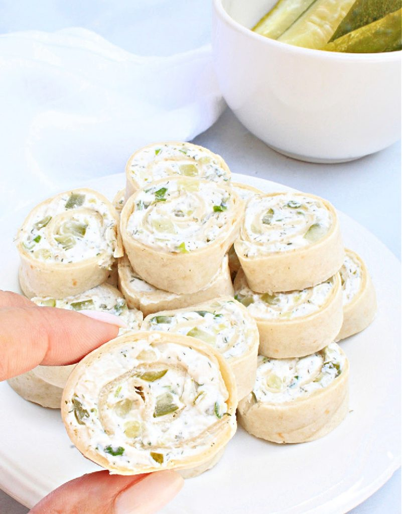 Dill Pickle Pinwheels ~ A classic party food perfect for all types of gatherings! 6 simple ingredients and 20 minutes are all you need!