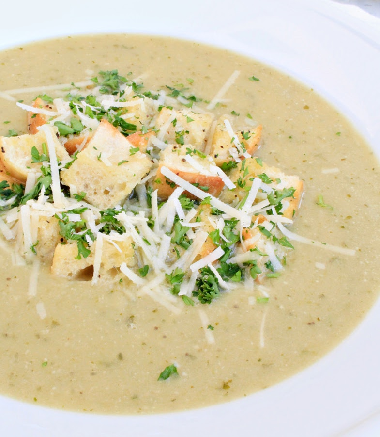close-up of soup
