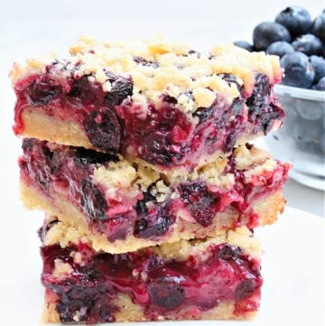 Blueberry Pie Bars ~ The flavor of fresh blueberries shines in this easy dairy-free alternative to classic blueberry pie!