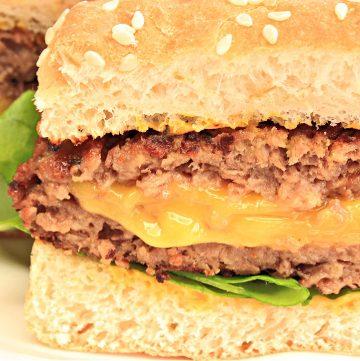 Vegan Juicy Lucy Burger