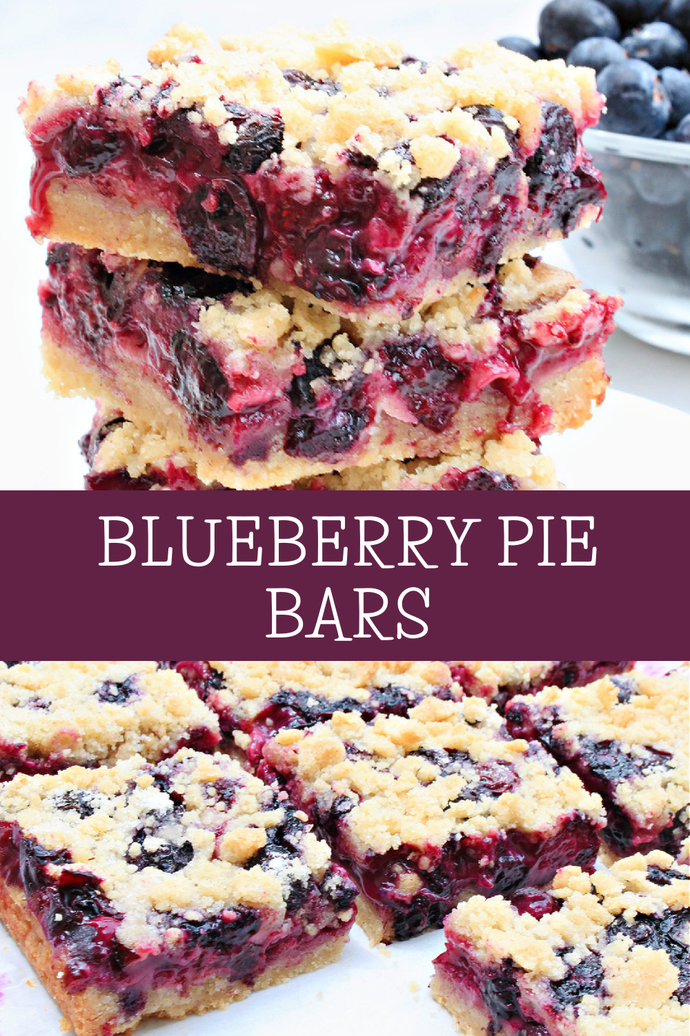 Vegan Blueberry Pie Bars ~ The flavor of fresh blueberries shines in this easy dairy-free alternative to classic blueberry pie! via @thiswifecooks