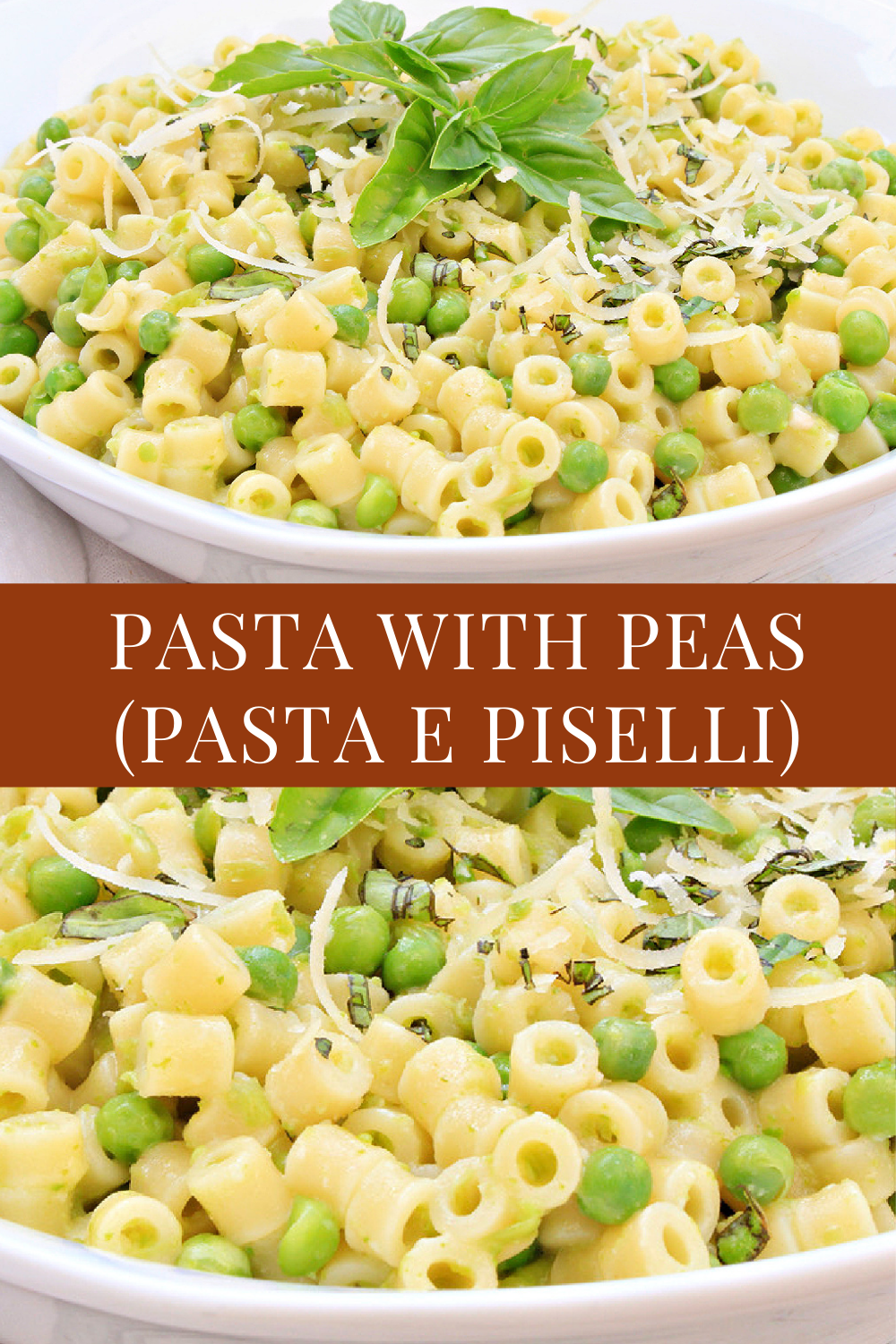 Pasta with Peas is an easy, creamy one-pot dinner. Kids & adults alike love the simplicity of this quick & easy Italian classic!  via @thiswifecooks